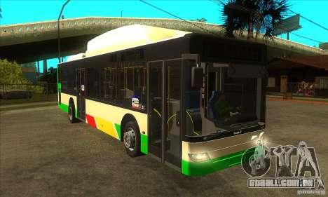 Mercedes Benz MAN Lions City CNG para GTA San Andreas vista traseira