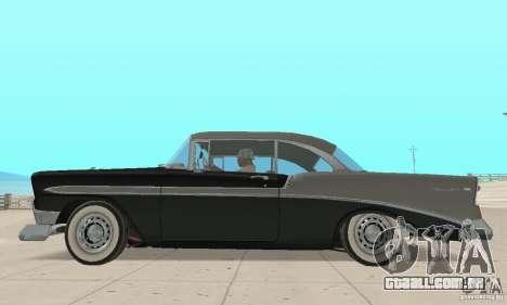 Chevrolet Bel Air 1956 para GTA San Andreas traseira esquerda vista