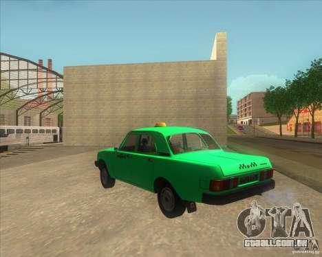 GAZ 31029 taxi para GTA San Andreas esquerda vista
