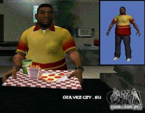 Nova pizza de vendedor para GTA San Andreas