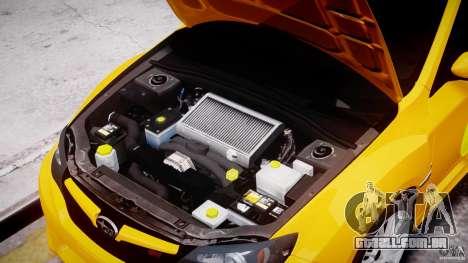 Subaru Impreza WRX STi 2011 Subaru World Rally para GTA 4 vista interior