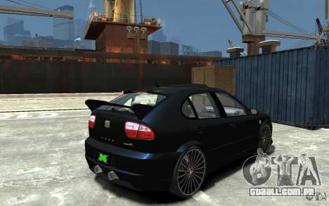 Seat Leon Cupra R para GTA 4 vista direita