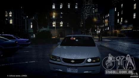 Chevrolet Impala Unmarked Police 2003 v1.0 [ELS] para GTA 4 interior