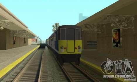 Cerberail Train para GTA San Andreas esquerda vista
