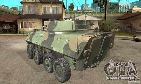 LAV-25 para GTA San Andreas traseira esquerda vista