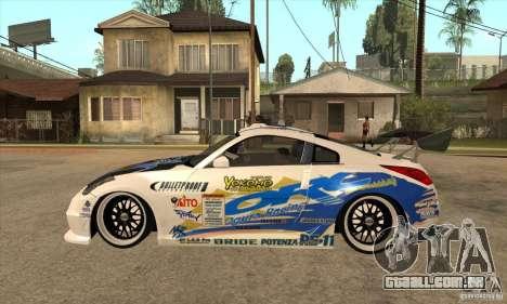 Nissan Z350 - Tuning para GTA San Andreas esquerda vista