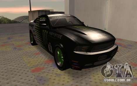 Ford Mustang GT Falken Monster 2010 v2.0 para GTA San Andreas esquerda vista