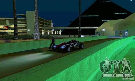 Ariel Atom para GTA San Andreas vista traseira