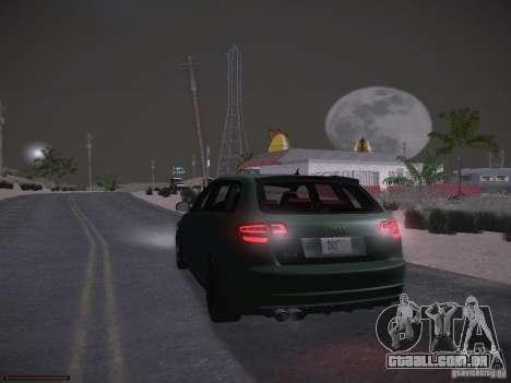 Audi RS3 2011 para GTA San Andreas vista inferior