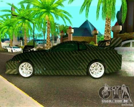 Toyota Supra Carbon para GTA San Andreas traseira esquerda vista
