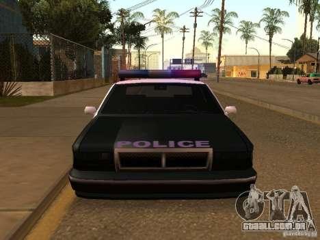 A vantagem do veículo da polícia para GTA San Andreas