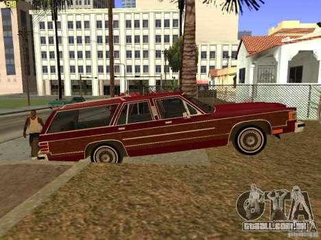 Mercury Grand Marquis Colony Park para GTA San Andreas traseira esquerda vista