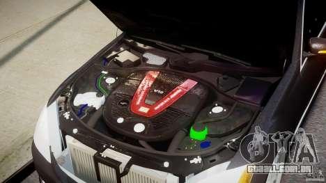 Mercedes-Benz S-Class W221 BRABUS SV12 para GTA 4 vista de volta