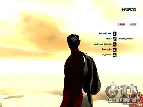 Mochila-pára-quedas para GTA: SA para GTA San Andreas quinto tela