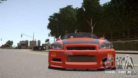 Nissan Skyline GT-R R34 Underground Style para GTA 4 vista lateral
