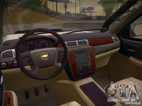 Chevrolet Silverado para GTA San Andreas vista interior