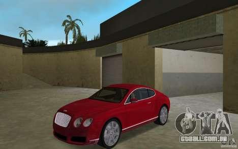 Bentley Continental GT (Final) para GTA Vice City