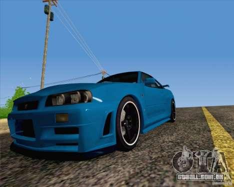 Nissan Skyline R34 Z-Tune V3 para GTA San Andreas vista direita