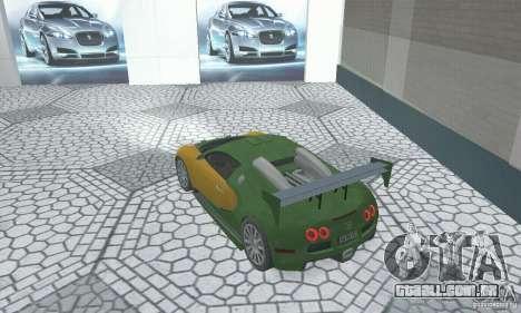 Bugatti Veyron 2005 para GTA San Andreas esquerda vista