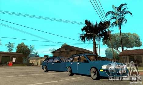 Volvo V40 Gespann para GTA San Andreas vista traseira