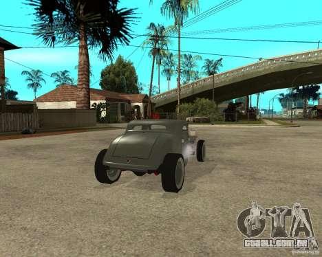 Ford 34 Rod para GTA San Andreas traseira esquerda vista