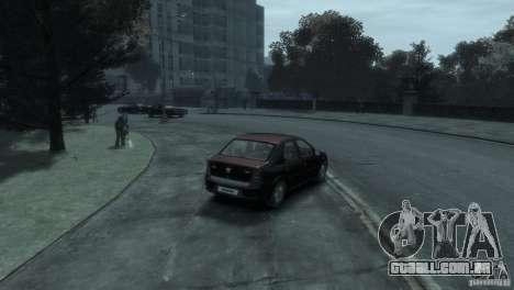RENAULT LOGAN para GTA 4 vista de volta