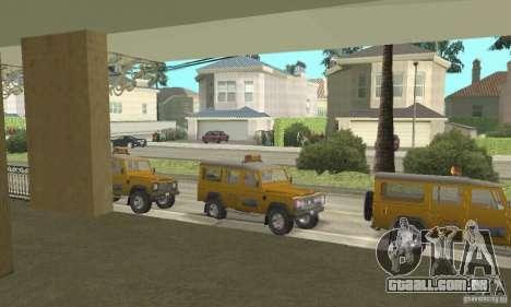 Land Rover Defender 110SW Taxi para GTA San Andreas vista direita