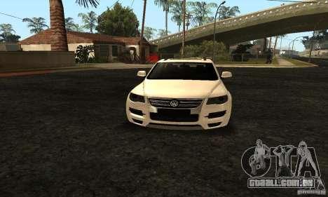 Volkswagen Touareg Dag Style para GTA San Andreas vista traseira