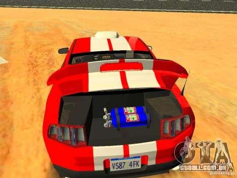 Ford Shelby GT500 para o motor de GTA San Andreas