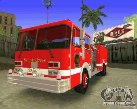 Pumper Firetruck Los Angeles Fire Dept para GTA San Andreas vista interior