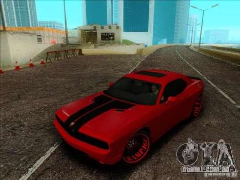 Dodge Quinton Rampage Jackson Challenger SRT8 v1 para GTA San Andreas vista interior