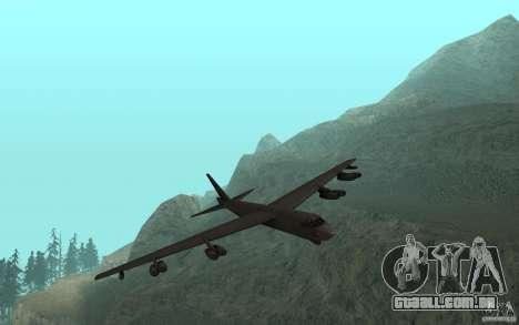 Boeing B-52 Stratofortress para GTA San Andreas esquerda vista
