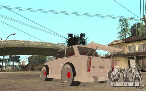 Trabant 601 Hardcore Tuning para GTA San Andreas traseira esquerda vista