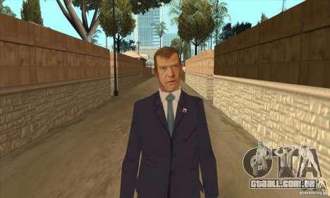 Dmitry Anatolyevich Medvedev para GTA San Andreas