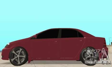 Toyota Corolla Tuning para GTA San Andreas traseira esquerda vista