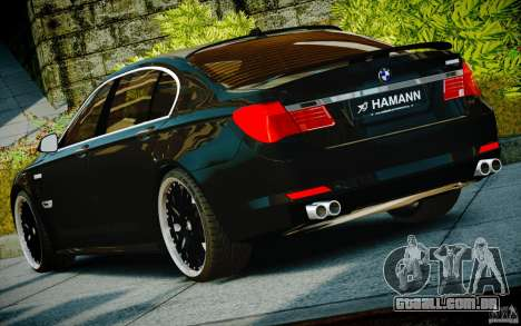 Bmw 750li Hamann para GTA 4 vista interior