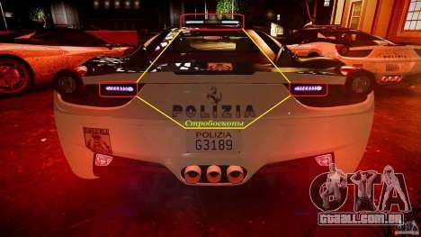 Ferrari 458 Italia - Brazilian Police [ELS] para GTA 4 rodas