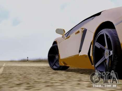 Lamborghini Aventador LP700-4 Vossen para GTA San Andreas vista direita