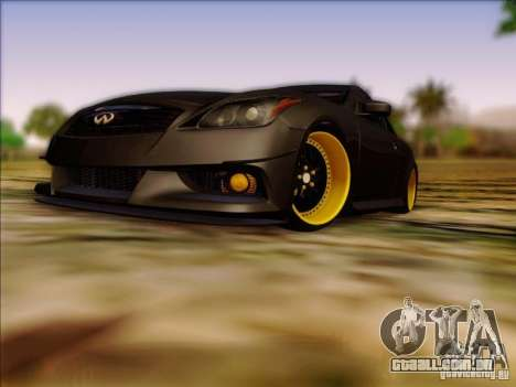 Infiniti G37 HellaFlush para GTA San Andreas esquerda vista