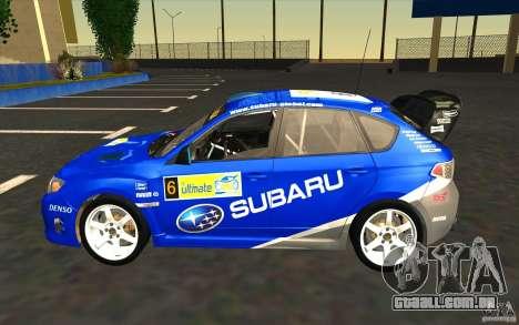 Novos vinis para Subaru Impreza WRX STi para o motor de GTA San Andreas