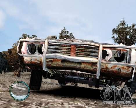 Flatout Shaker IV para GTA 4 vista de volta