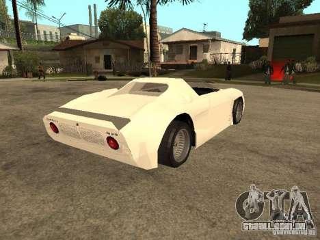 Cup Car para GTA San Andreas vista direita