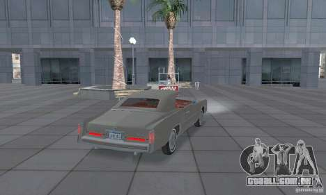 Cadillac Eldorado Convertible 1976 para GTA San Andreas traseira esquerda vista