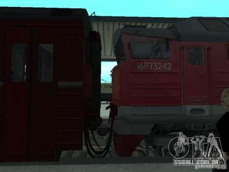 2te116 RZD para GTA San Andreas vista direita
