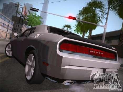 Dodge Challenger SRT8 v1.0 para GTA San Andreas traseira esquerda vista