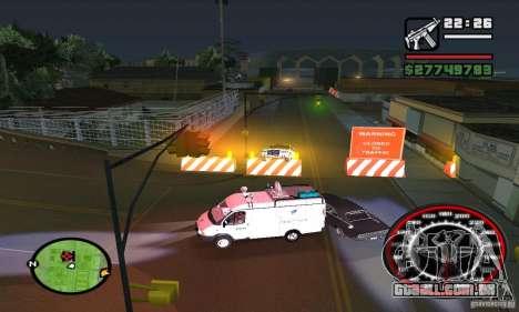Base GROOVE Street para GTA San Andreas quinto tela