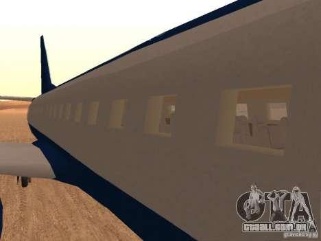 AT400 with full Interior para GTA San Andreas vista traseira