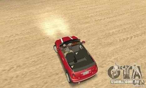 Mini Cooper Convertible para GTA San Andreas traseira esquerda vista