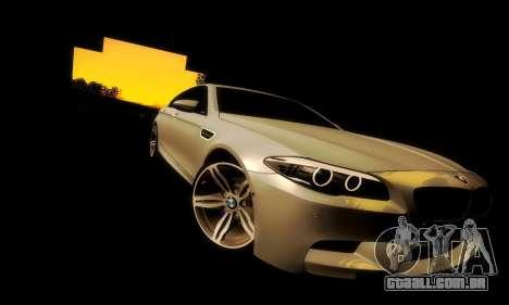 BMW M5 F10 para GTA San Andreas vista interior