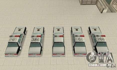 Dodge Diplomat 1985 Police para GTA San Andreas